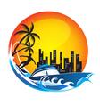 Travel fun logo vector