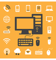 Mobile devices computer and network connections i vector