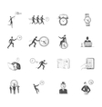 Time management icons sketch vector