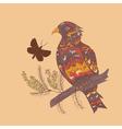 Bird with flowers2 vector