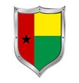 Guinea bissau flag button vector