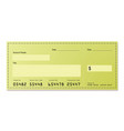 Dollar cheque vector