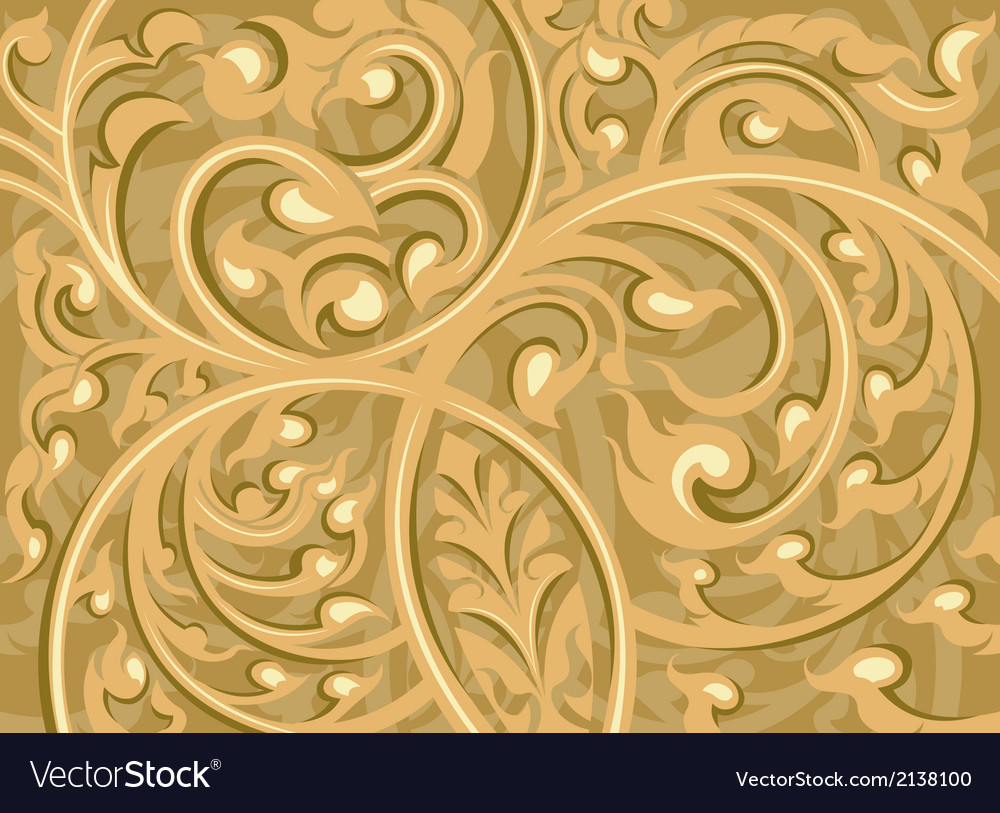 Beautiful brown vine art pattern background vector | Price: 1 Credit (USD $1)