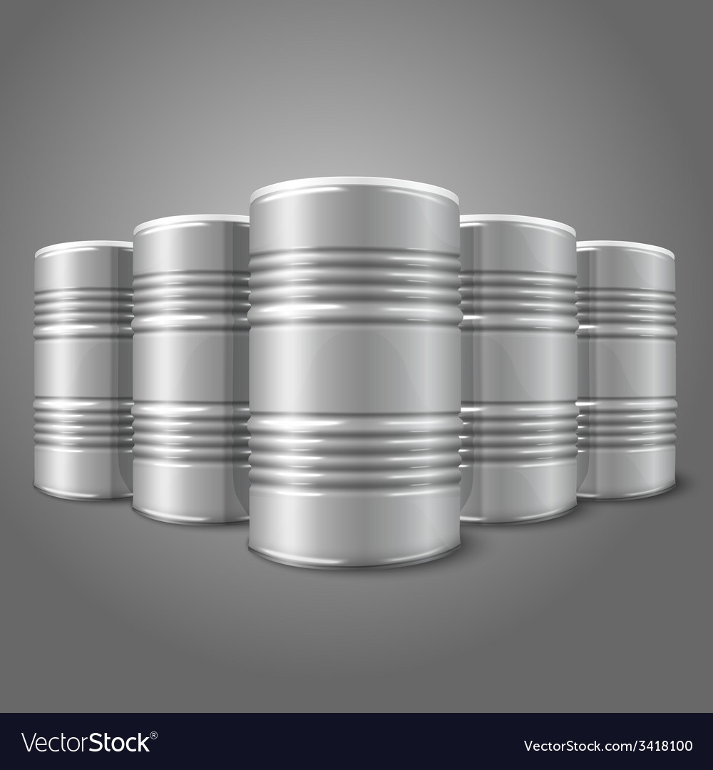 Blank realistic blank big oil barrels isolated on vector | Price: 1 Credit (USD $1)