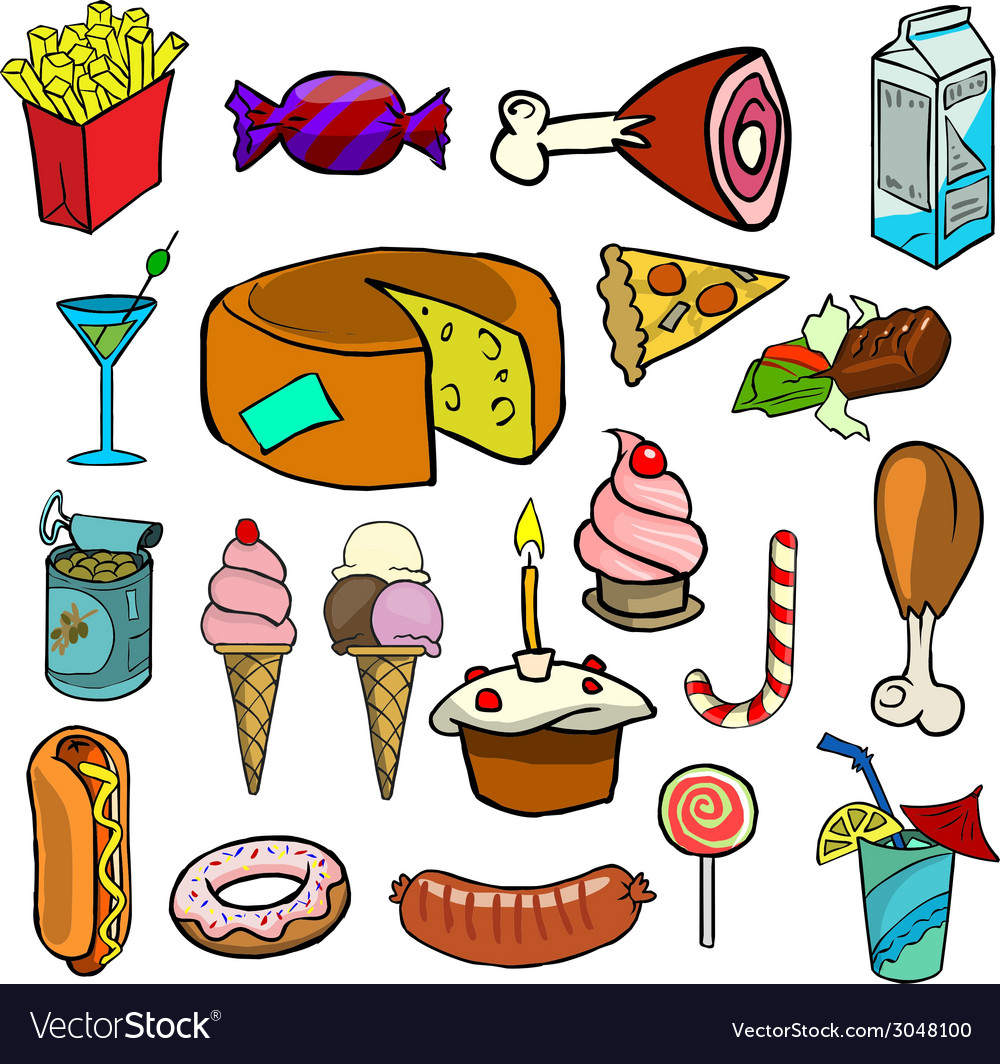 Cartoonish food vector | Price: 1 Credit (USD $1)