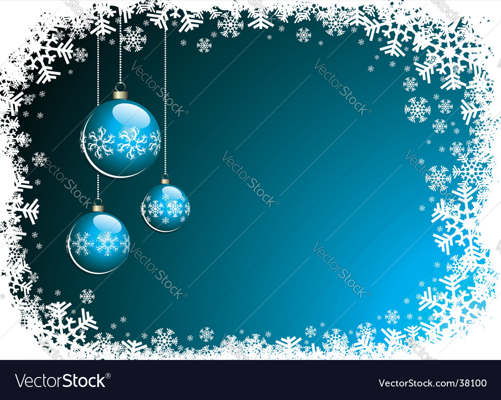 Christmas illustration with blue glass vector | Price: 1 Credit (USD $1)