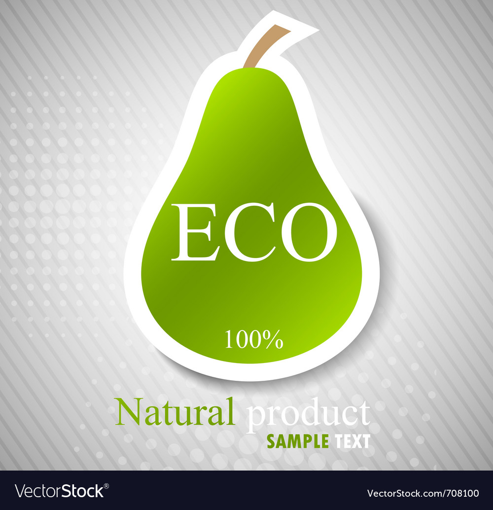Concept with pear vector | Price: 1 Credit (USD $1)