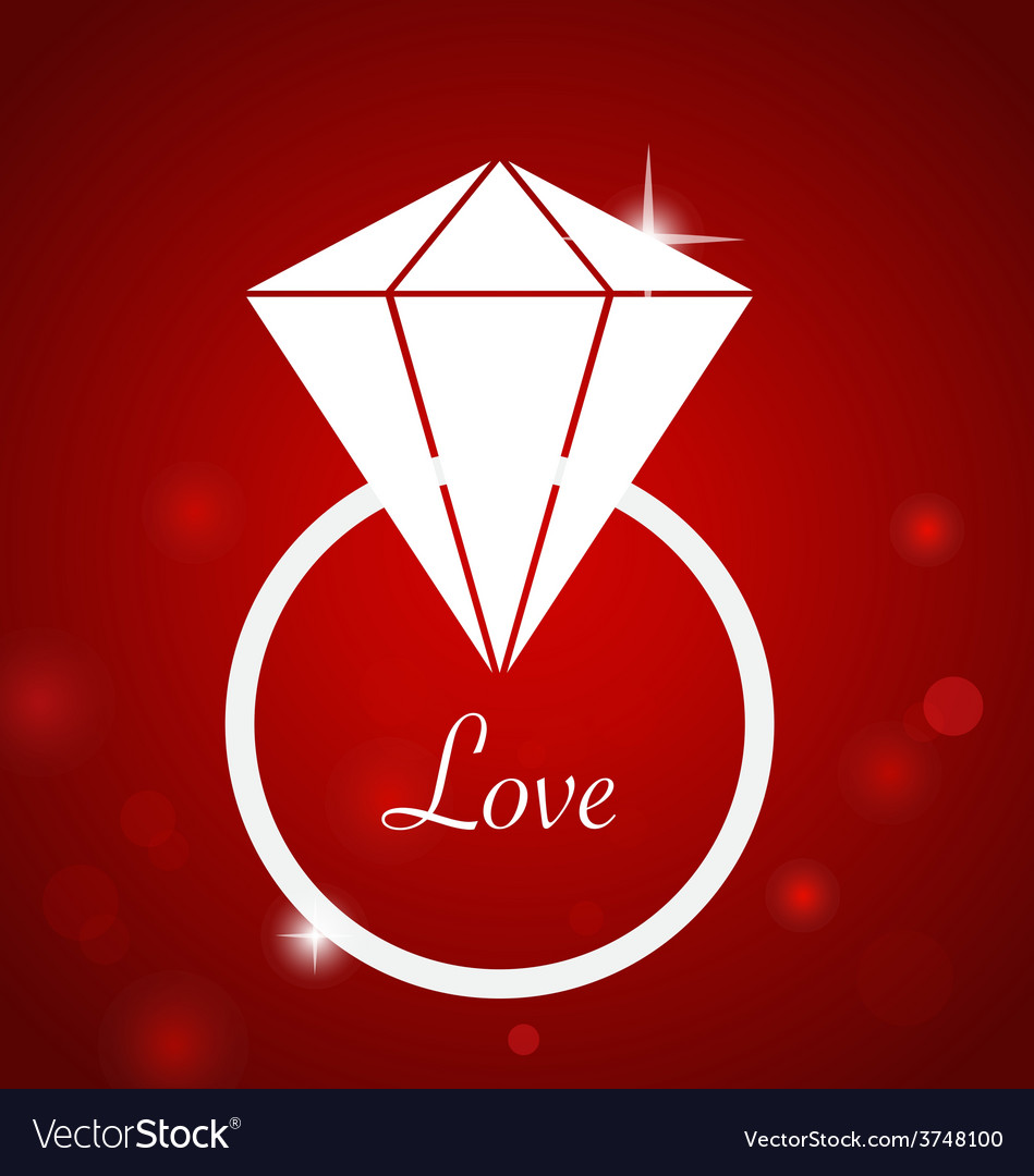 Diamond engagement ring vector | Price: 1 Credit (USD $1)