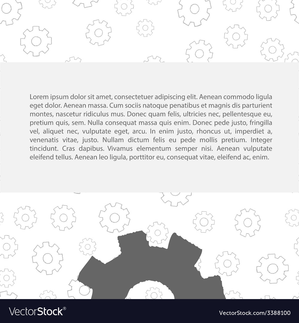 Gears pattern with text vector | Price: 1 Credit (USD $1)