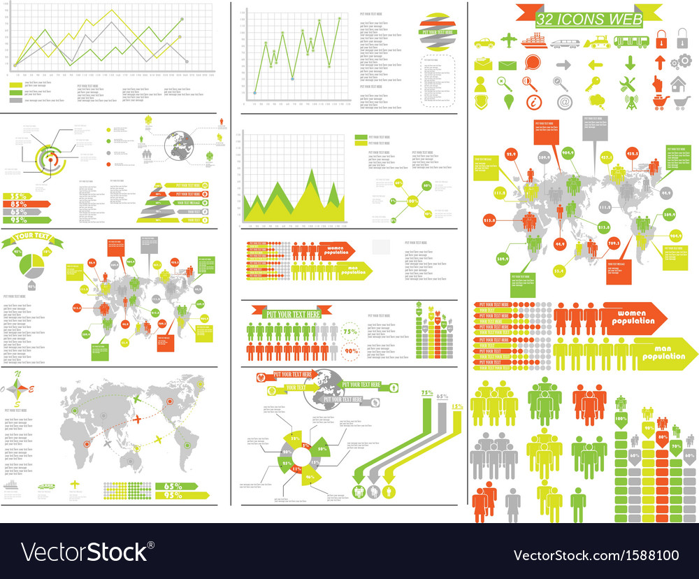 Infographic yellow vector