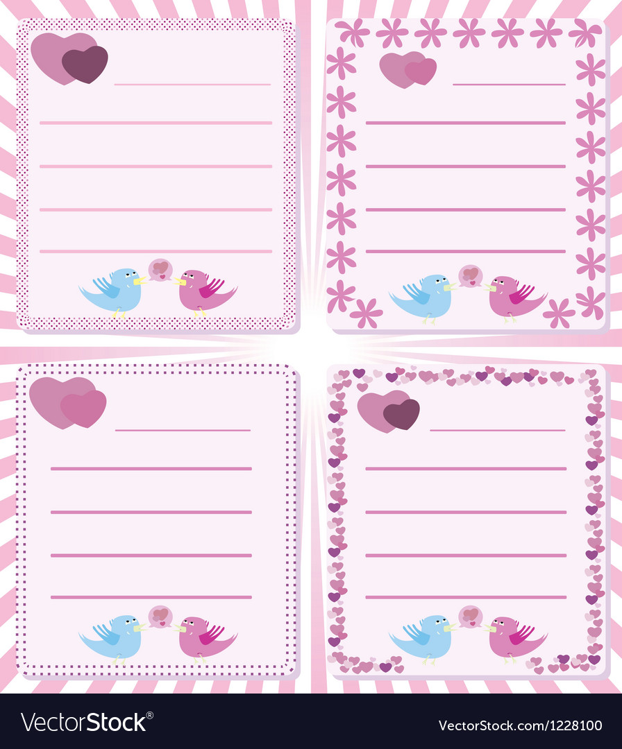 Love message birds tweet vector | Price: 1 Credit (USD $1)