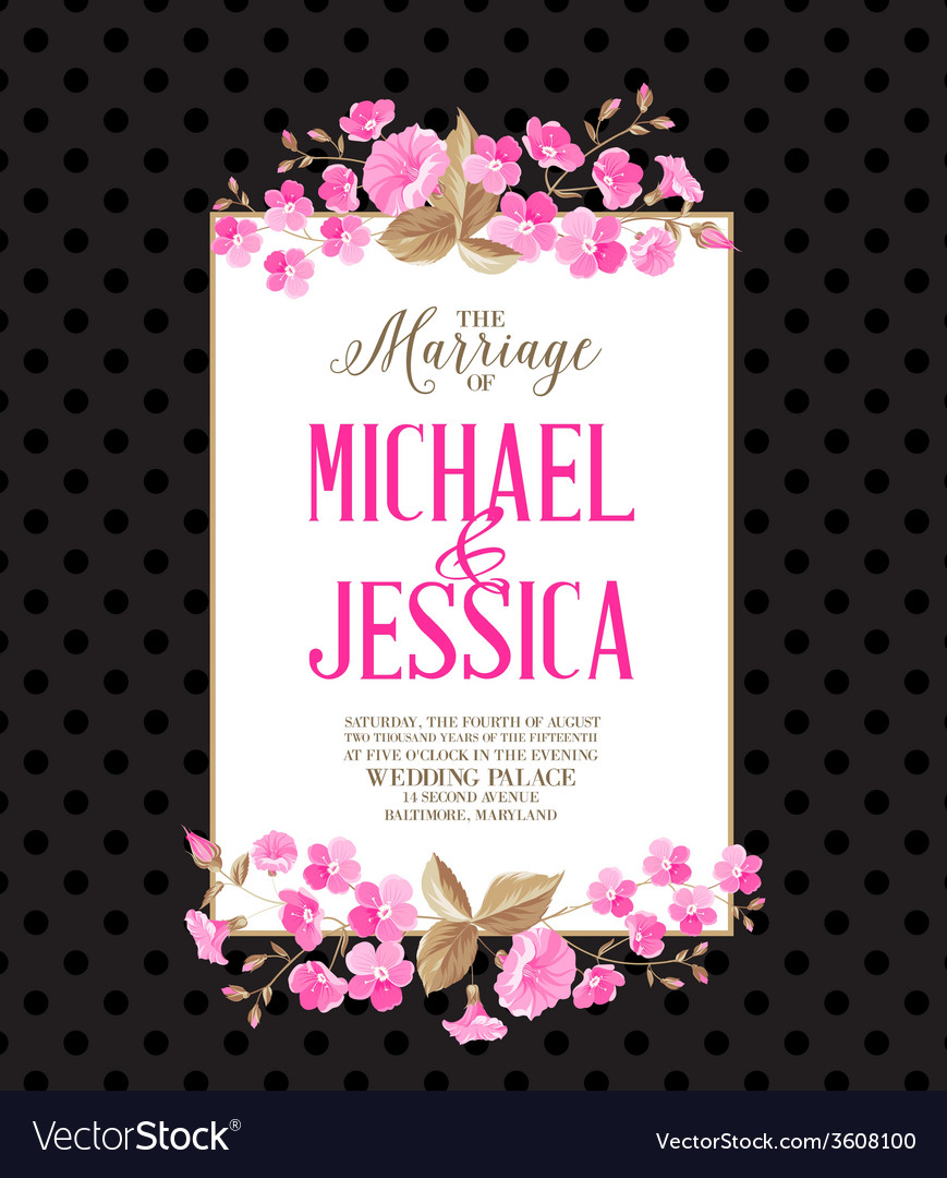 Marriage party invitation vector | Price: 1 Credit (USD $1)