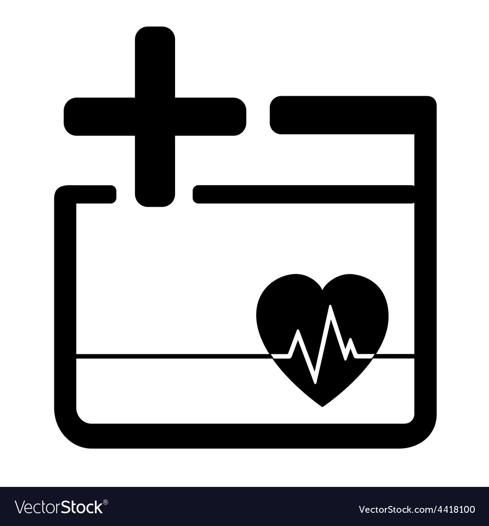 Medicine icon with heart and cross vector | Price: 1 Credit (USD $1)