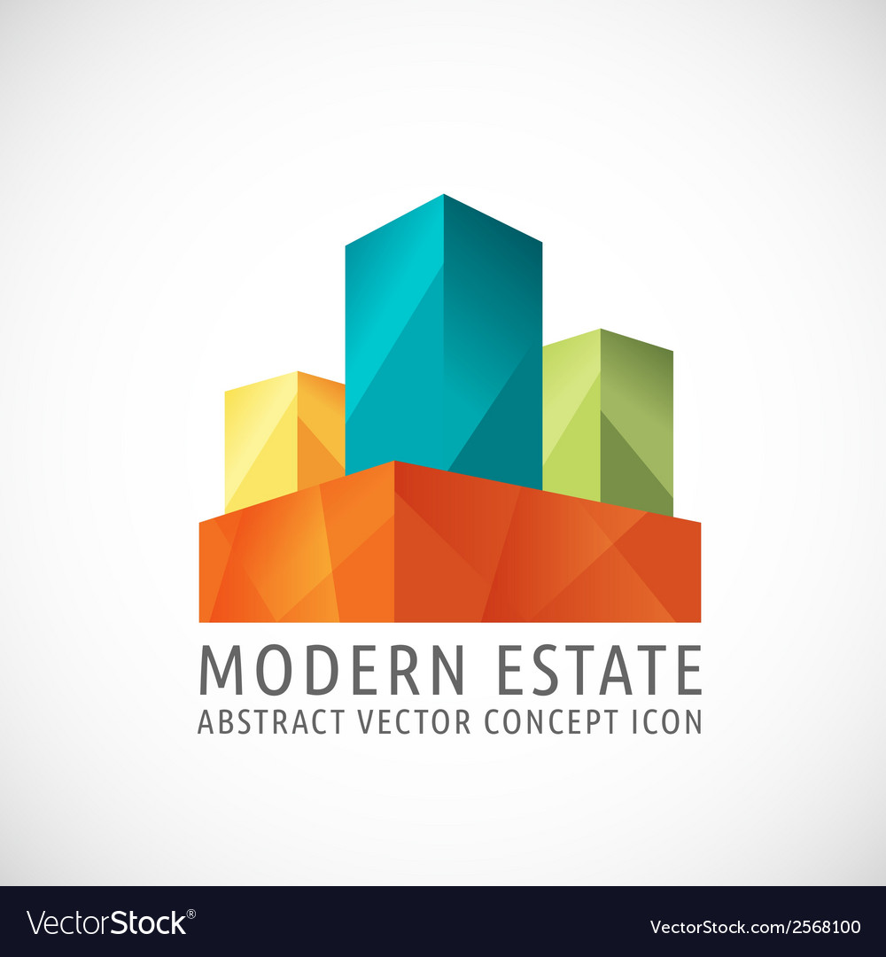 Modern or creative estate abstract concept icon vector | Price: 1 Credit (USD $1)
