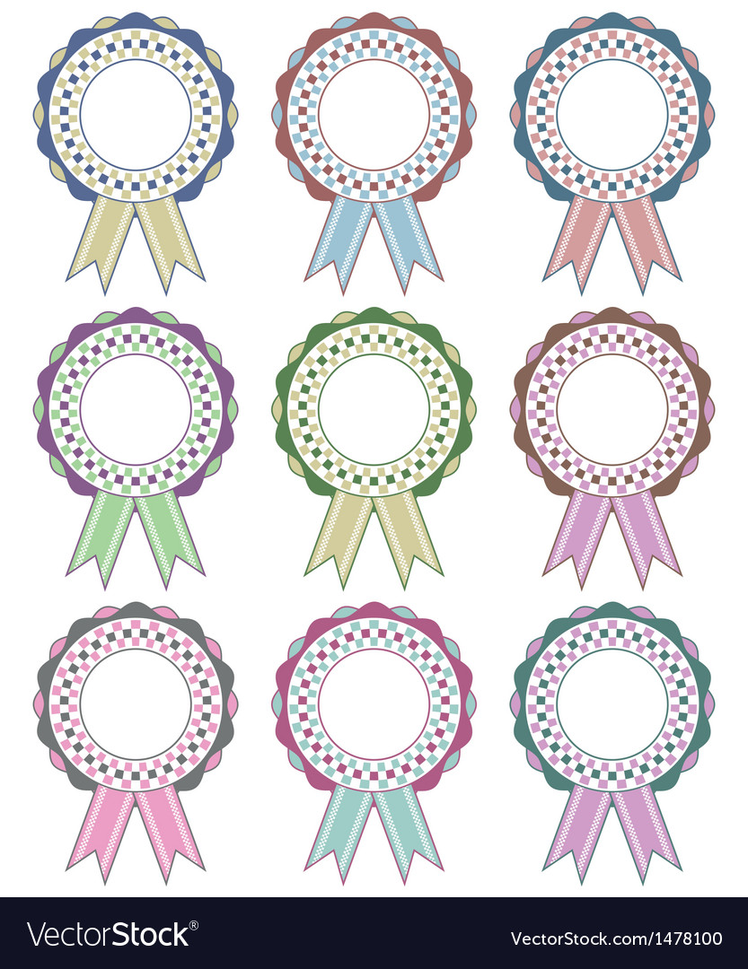 Rosette decorations vector | Price: 1 Credit (USD $1)