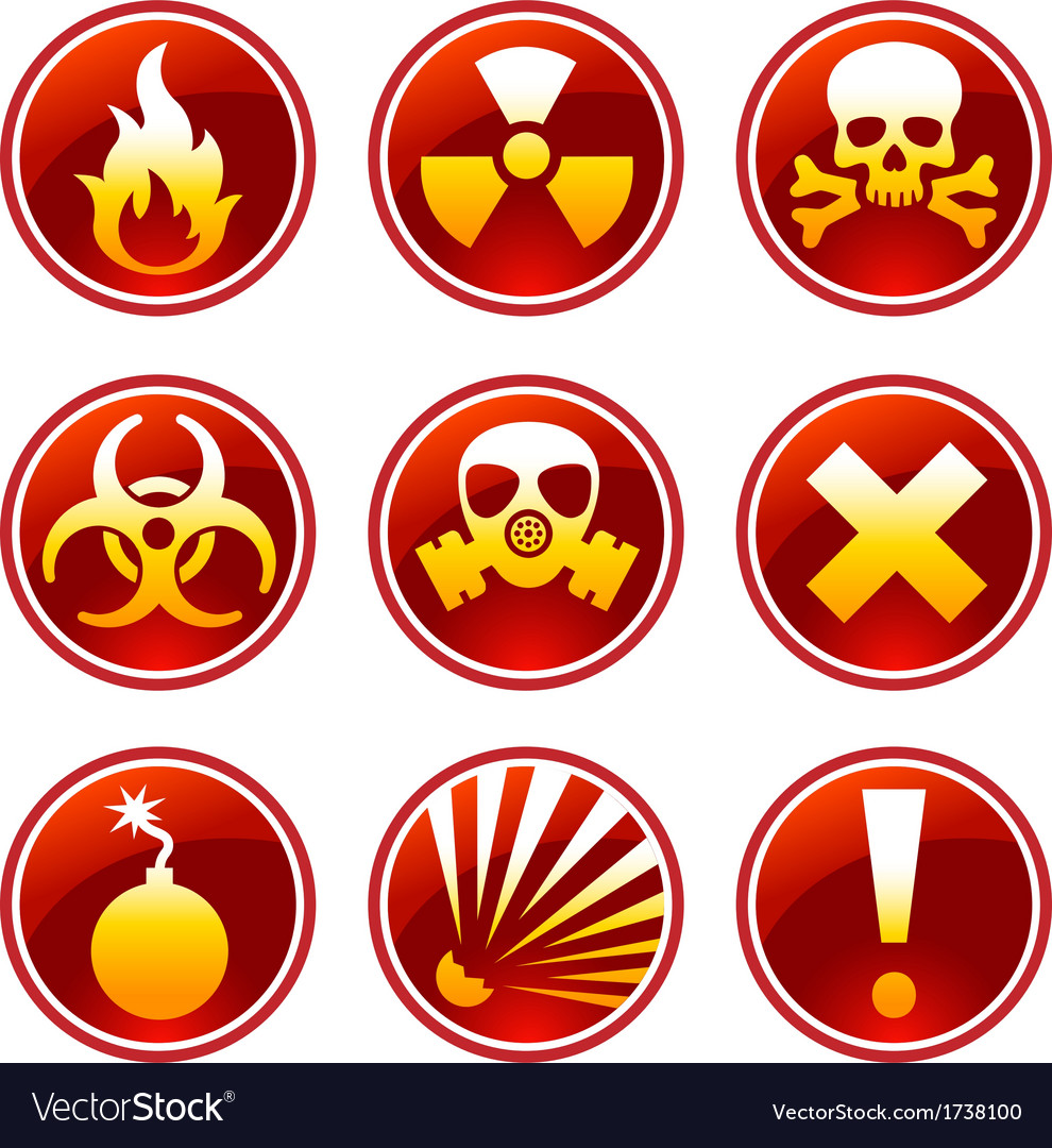 Round warning icons vector | Price: 1 Credit (USD $1)