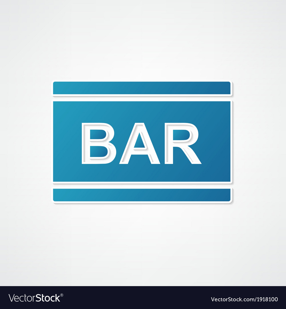 Sign bar blue vector | Price: 1 Credit (USD $1)