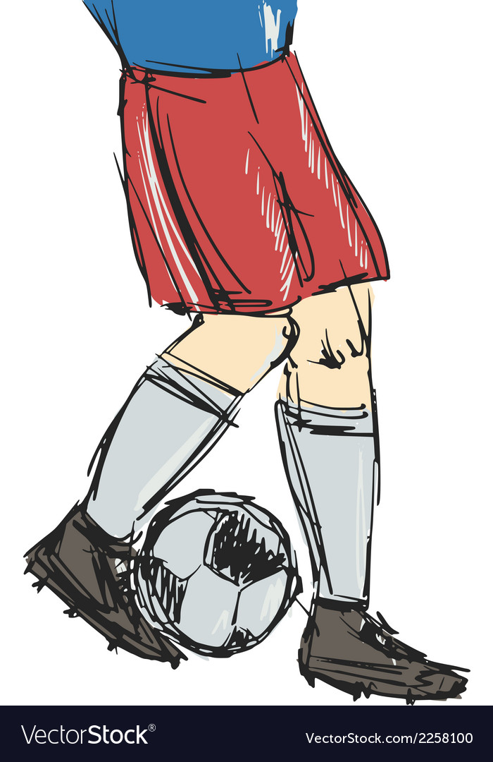 Soccer player vector   Price: 1 Credit (USD $1)