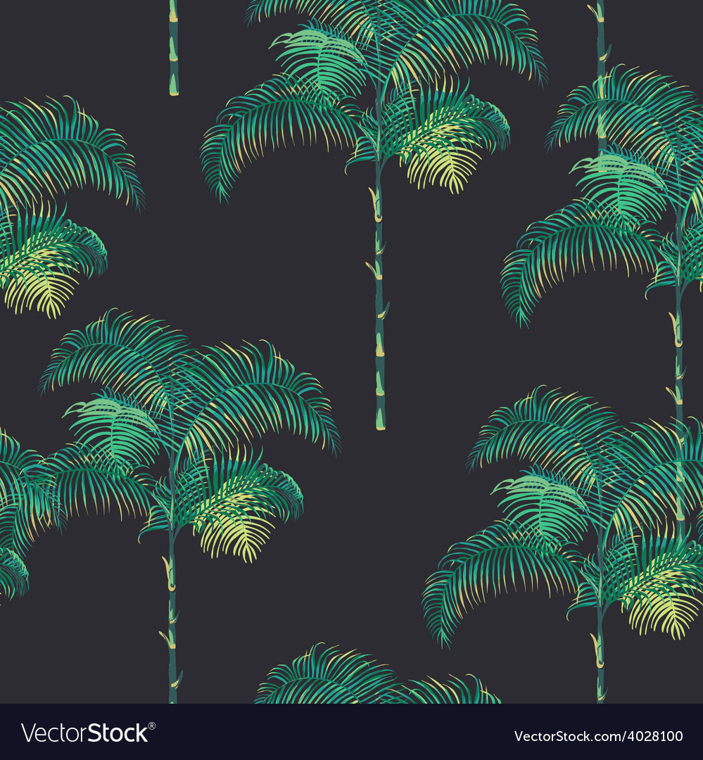 Tropical palm trees background vector | Price: 1 Credit (USD $1)