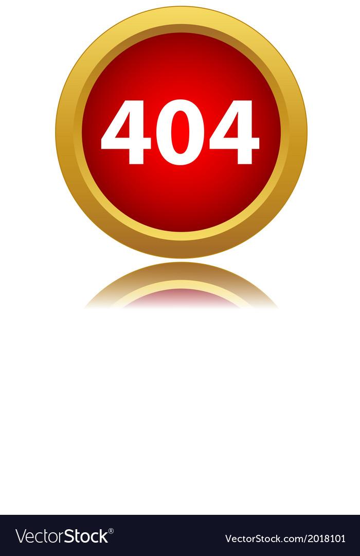 404 error sign vector | Price: 1 Credit (USD $1)