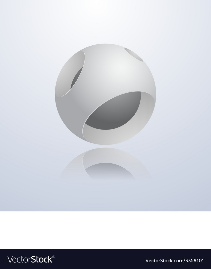 Abstract 3d sphere vector | Price: 1 Credit (USD $1)