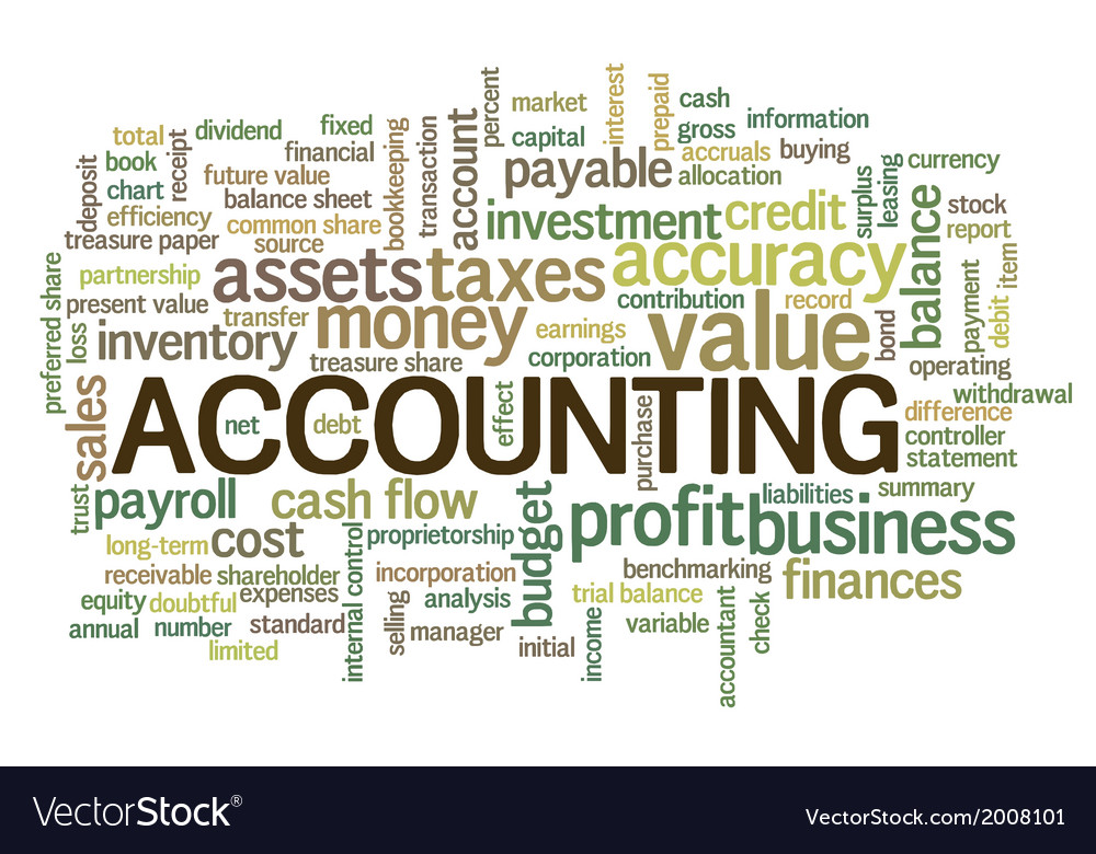 Accounting word cloud bubble tags tree vector | Price: 1 Credit (USD $1)