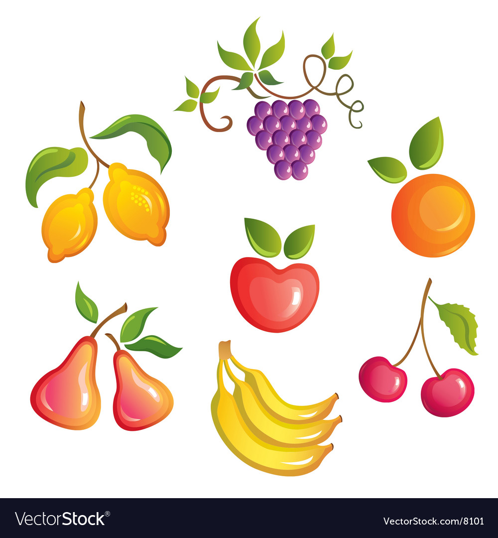 Appetizing fruits vector | Price: 3 Credit (USD $3)