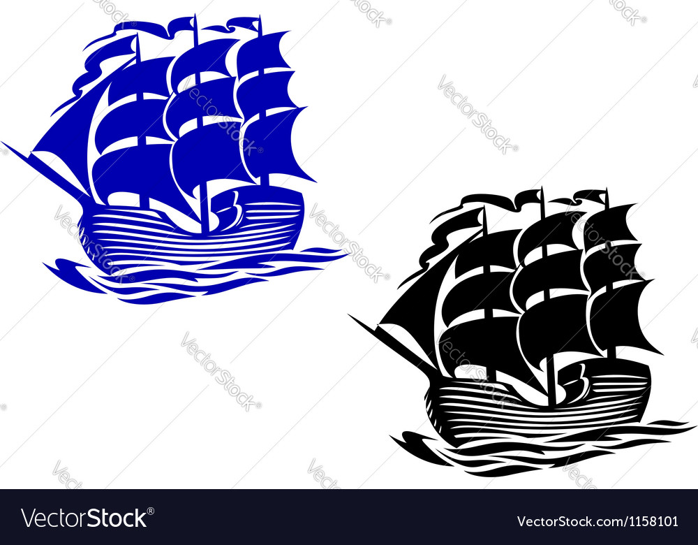 Brig sail ship vector | Price: 1 Credit (USD $1)