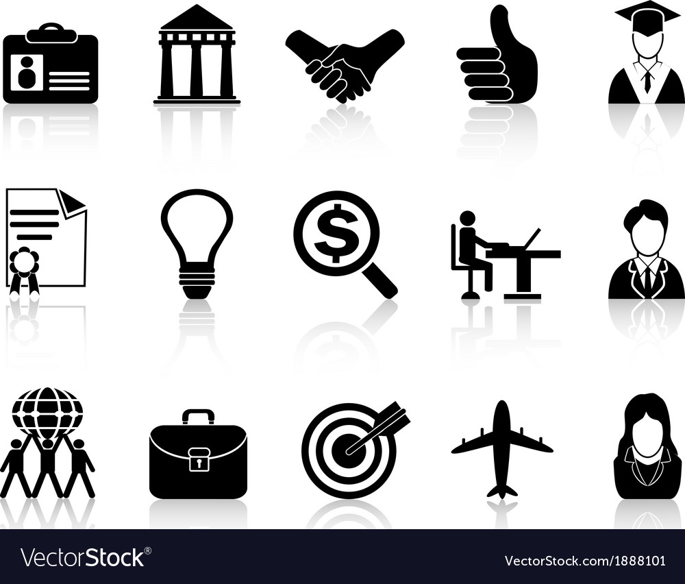 Business career icons vector | Price: 1 Credit (USD $1)