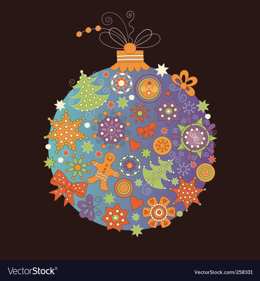 Christmas ball vector | Price: 1 Credit (USD $1)