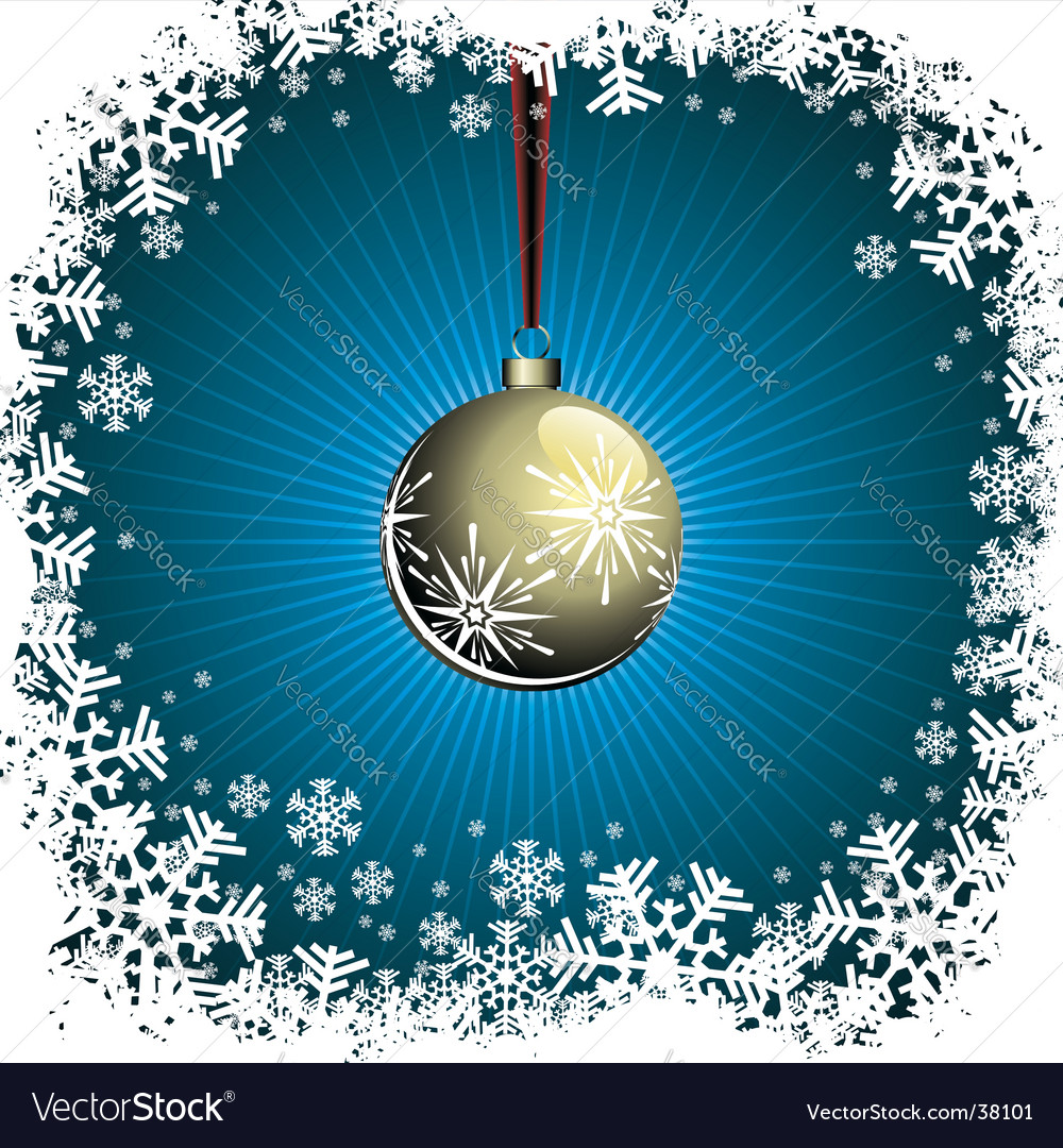Christmas illustration with gold ball vector | Price: 1 Credit (USD $1)