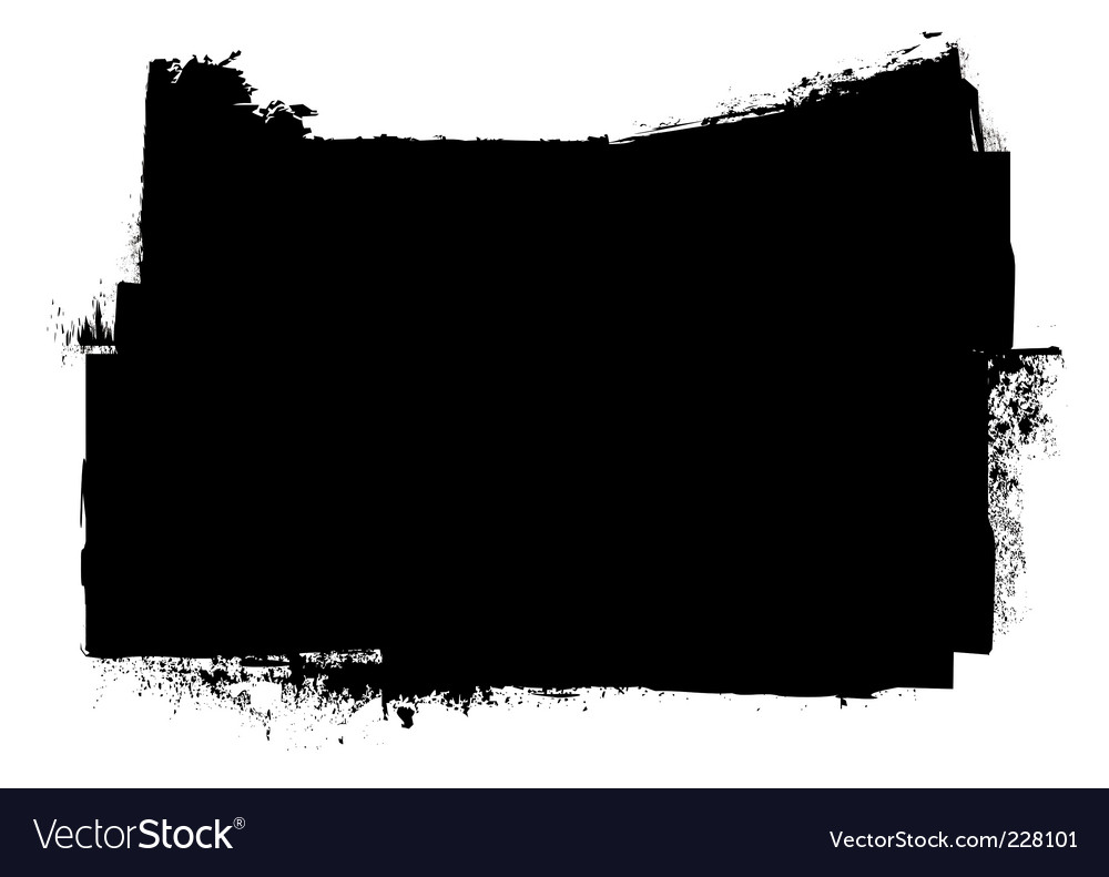 Grunge black ink stripe splat vector | Price: 1 Credit (USD $1)
