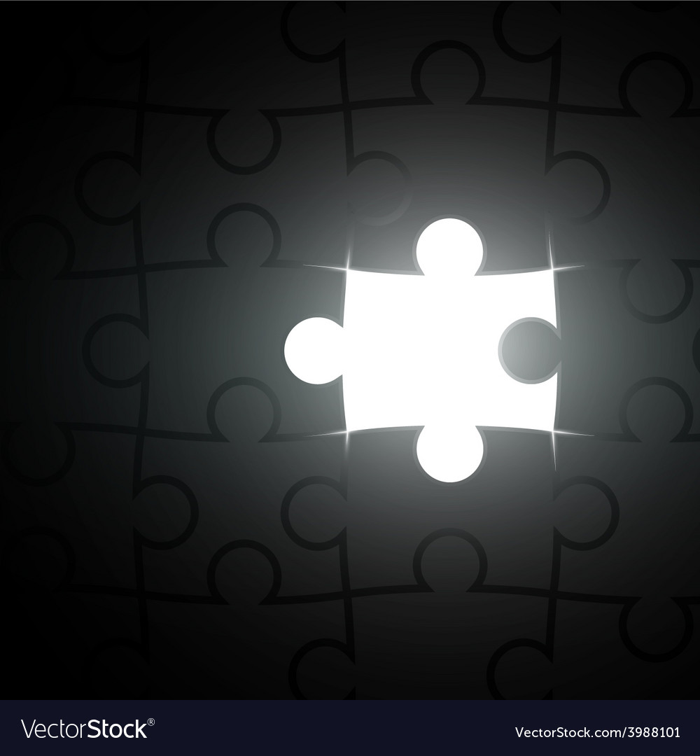 Missing piece of the puzzle vector | Price: 1 Credit (USD $1)