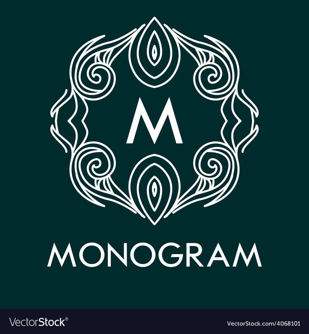 Monogram design template with letters vector | Price: 1 Credit (USD $1)