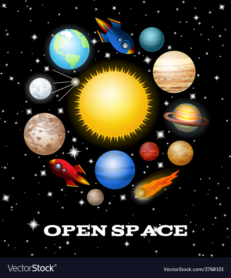 Set of space elements vector   Price: 1 Credit (USD $1)
