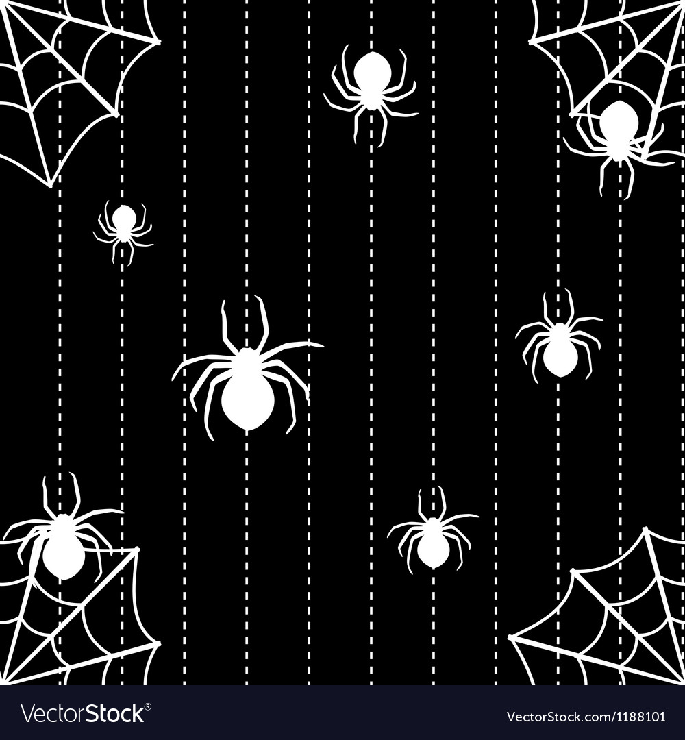 Spiders and web seamless background vector | Price: 1 Credit (USD $1)