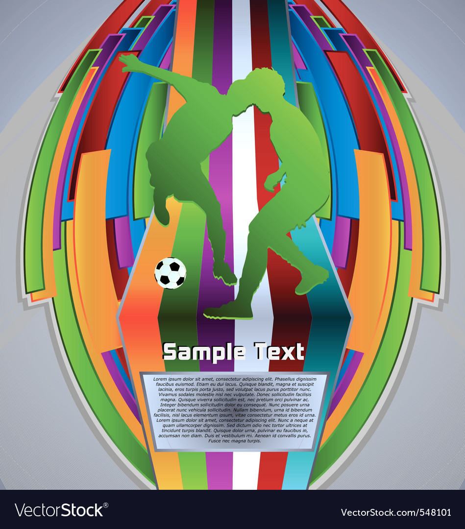 Summer sport design series soccer theme vector | Price: 1 Credit (USD $1)