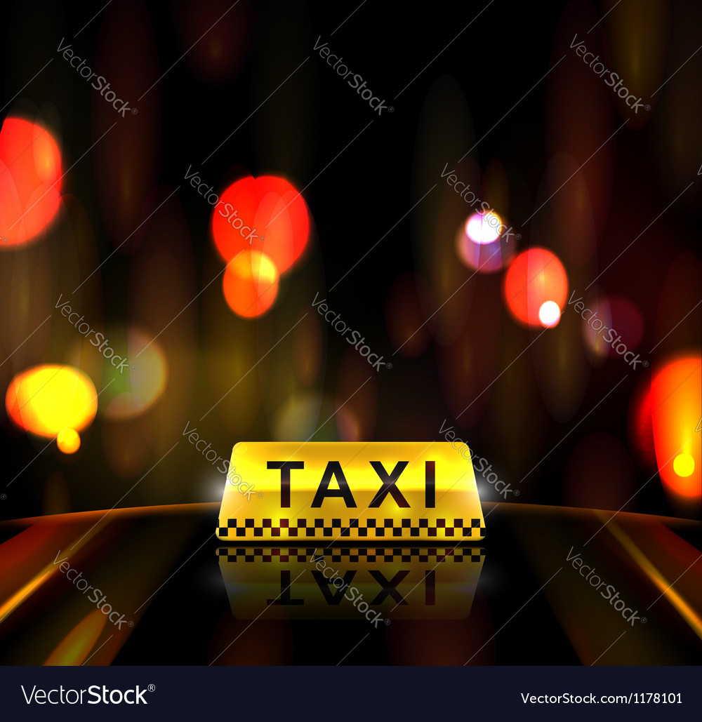 Taxi service in city vector | Price: 1 Credit (USD $1)