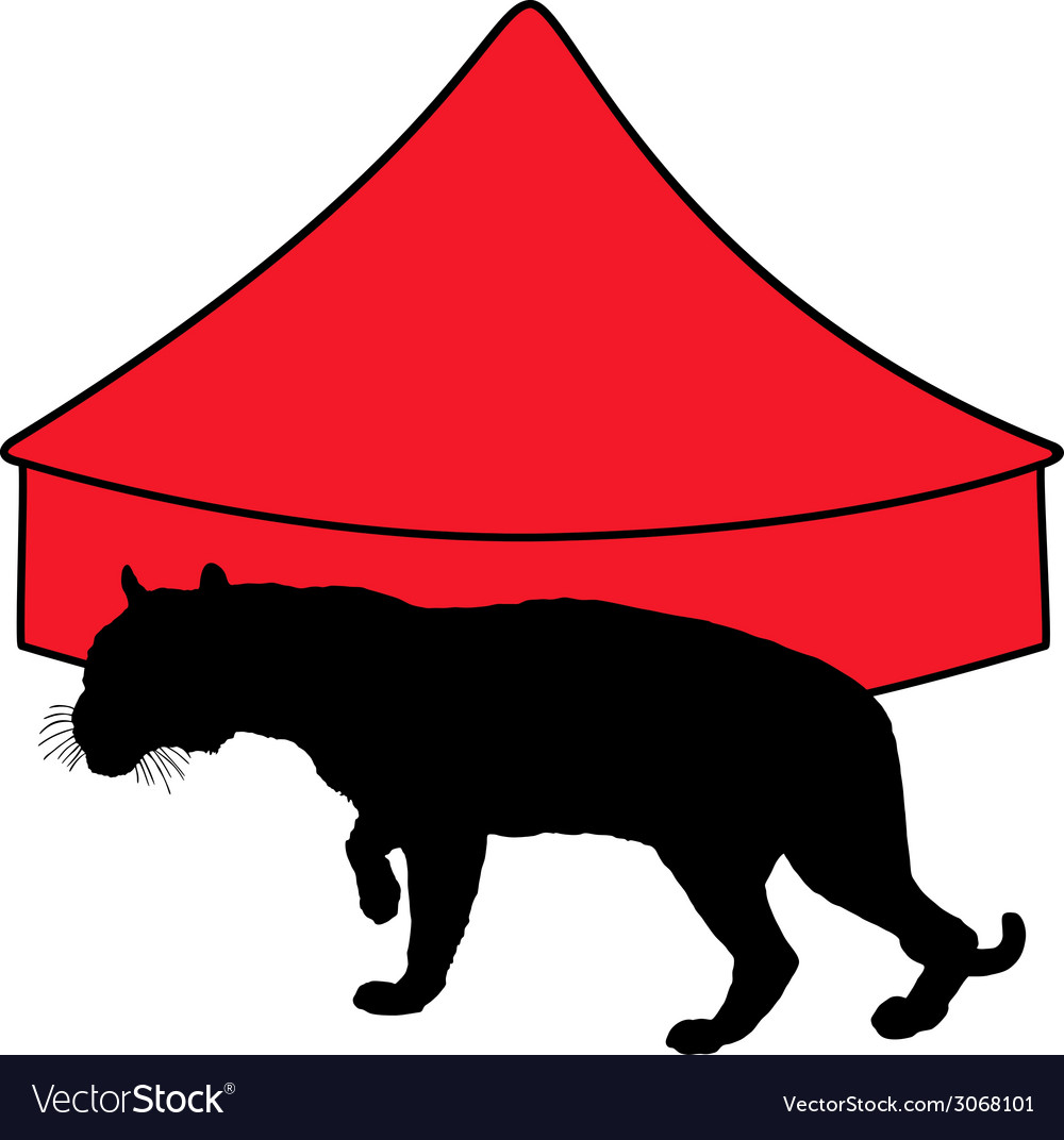 Tiger in circus vector | Price: 1 Credit (USD $1)