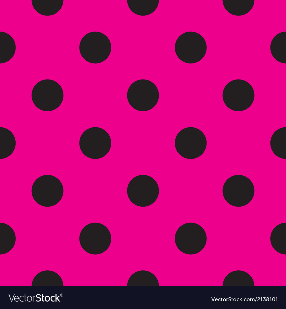 Tile pattern or background with black polka dots vector | Price: 1 Credit (USD $1)