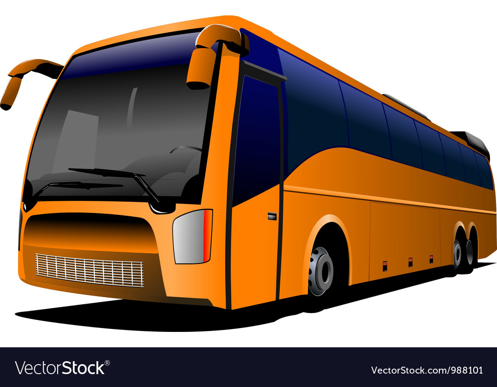 Tour bus company logo vector | Price: 1 Credit (USD $1)