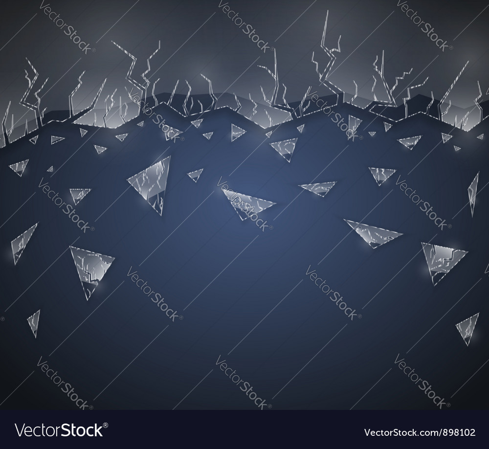 Background with glass vector