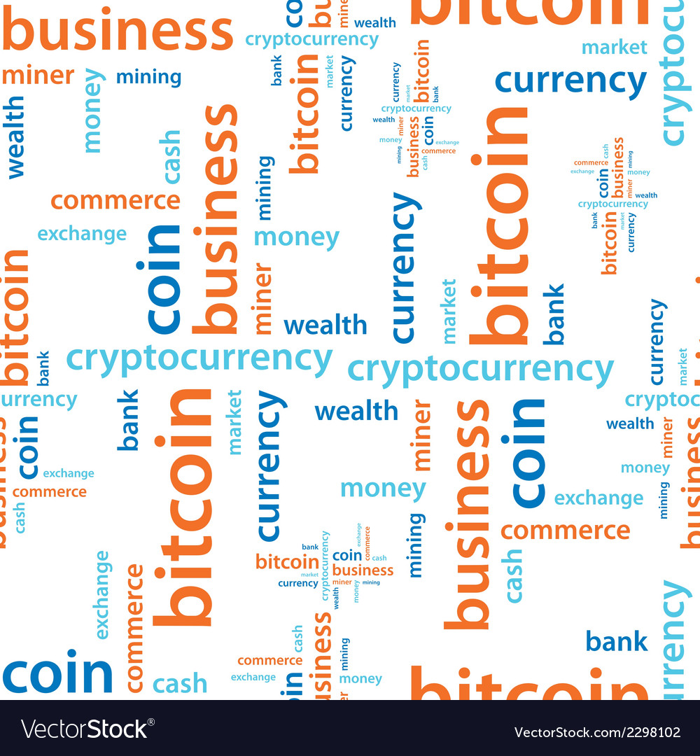 Bitcoin text seamless pattern vector | Price: 1 Credit (USD $1)
