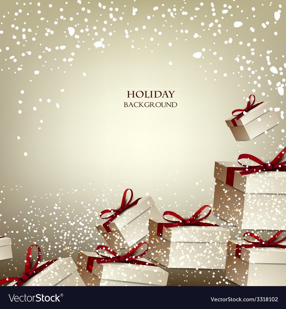 Christmas background with gifts xmas boxes with vector | Price: 3 Credit (USD $3)