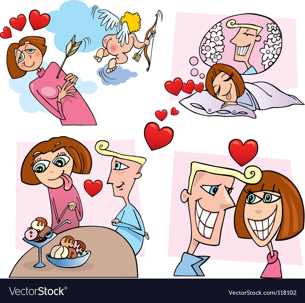 Comic love story vector | Price: 3 Credit (USD $3)