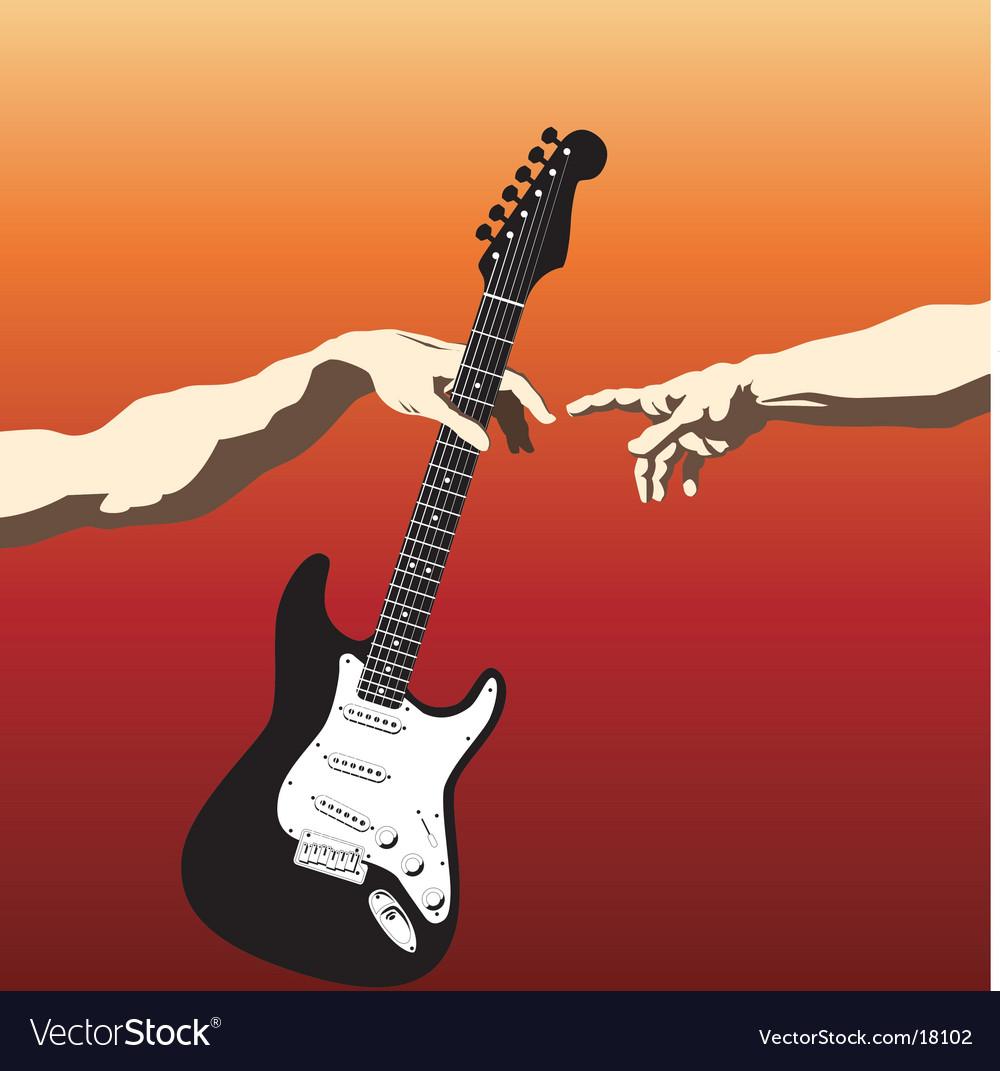 Creation of adam guitar vector | Price: 1 Credit (USD $1)