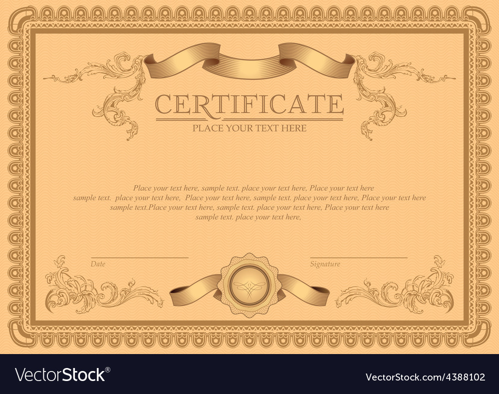 Detailed certificate vector | Price: 3 Credit (USD $3)