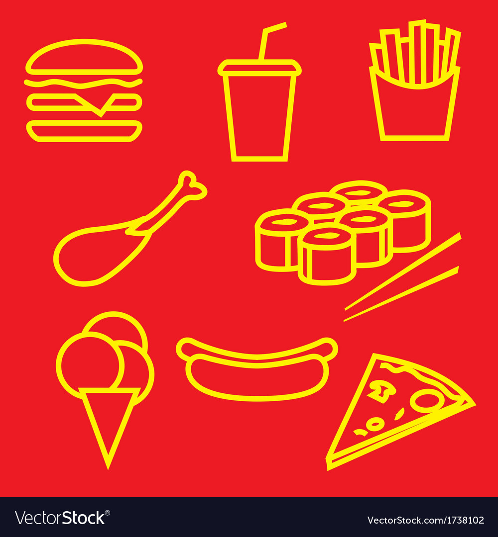 Fastfoodset vector | Price: 1 Credit (USD $1)