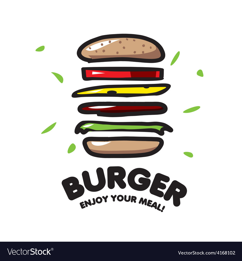 Logo burger for fast food vector | Price: 1 Credit (USD $1)