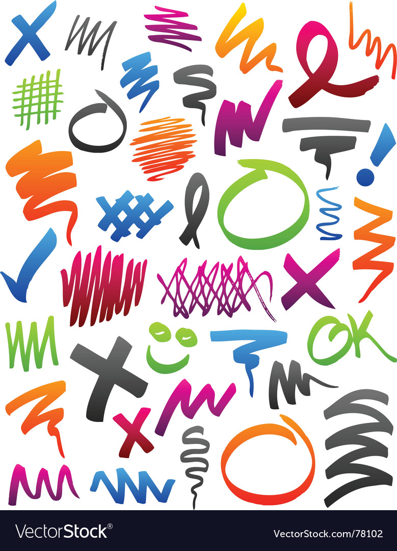 Marker scribbles vector | Price: 1 Credit (USD $1)